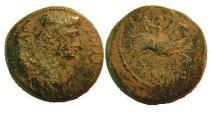 Ancient Coins - Divis Augustus AE22 of Amphipolis.Artemis Tauropolis riding bull right