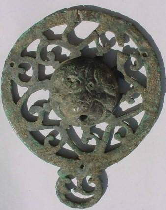 Ancient Coins - BEAUTIFUL ROMAN ORNAMENT WITH LEON.