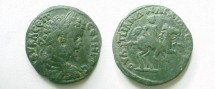Ancient Coins - Septimius Severus AE29 of Anchialus,  Thrace.  Emperor on horse leaping right, holding spear.