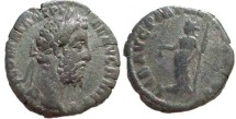 Ancient Coins - Commodus Denarius.  LIB AVG PM TR P XV COS VI,  Libertas standing left, holding pileus and rod.