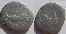 Ancient Coins - Mark Antony AR Legionary Denarius,  32-31 BC.  LEG XI-Legio XI Claudia Pia Fidelis