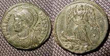 Ancient Coins - City Commemoratives, AE follis. Siscia, 330-346 AD. CONSTANTINOPOLIS,