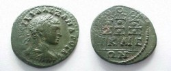 Ancient Coins - Severus Alexander AE21 of Nicaea in Bithynia.  3 standards.