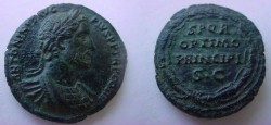 Ancient Coins - ANTONINUS PIUS. 138-161 AD. Æ As .Unusual  Portrait.EF .Beautiful patina!!
