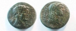 Ancient Coins - Tiberius & Livia Æ23 of Thessalonika, Macedonia. 3 AD and later.