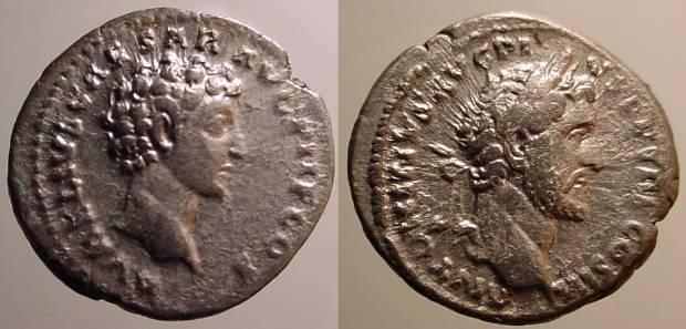 Ancient Coins - Antoninus Pius & Marcus Aurelius, as Caesar Denarius,  140 AD.  AVRELIVS CAESAR AVG PII F COS, bare head of Aurelius right.