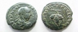 Ancient Coins - Elagabalus AE18 of Nikopolis, Moesia Inferior.  Bunch of grapes.