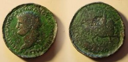 Ancient Coins - NERO  CONCORNIATE. 4th century A.D. New Year's Token (READ STORY).