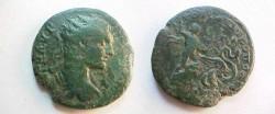 Ancient Coins - Elagabalus AE26 of Nikopolis ad Istrum.  Triptolemos right in biga of serpents.