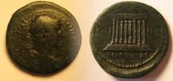 Ancient Coins - BITHYNIA: Hadrian A.D.117-138 . AE28 / IMPERIAL TEMPLE.Rare
