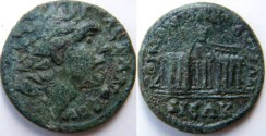 Ancient Coins - Macedon. Reign of Gordian III. 238-244 AD. AE 26mm.KOINON MACEDONWN, two pentastyle temples.