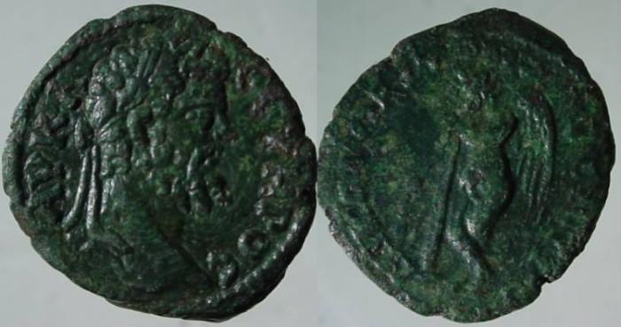 Ancient Coins - Septimius Severus AE 18mm of Nikopolis, Moesia Inferior.Genius of Death,