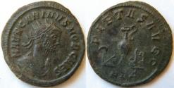 Ancient Coins - Carinus.A.D.283-285.Sacrificial implements (sprinkler, simpulum, jug, patera, knife and litus)