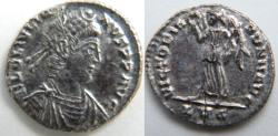 Ancient Coins - Julian II Reduced Siliqua, FL CL IVLIA-NVS PP AVG/VICTORY advancing left.EF and Scarce.