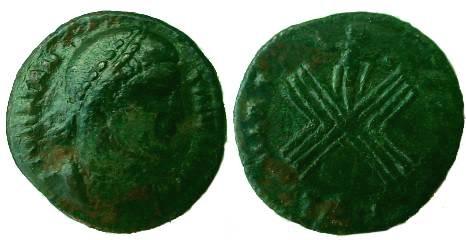 Ancient Coins - Constantine I.307-337 AD.AE Follis.VIRT EXERC,  Thessalonica mint. RRR