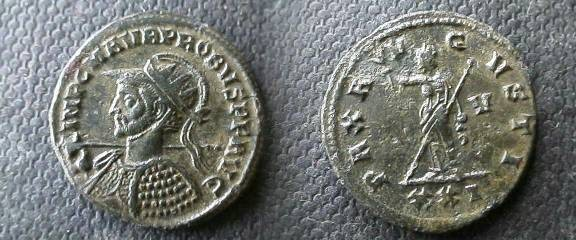 Ancient Coins - Probus AE Antoninianus. Siscia mint.Pax standing left holding branch and scepter