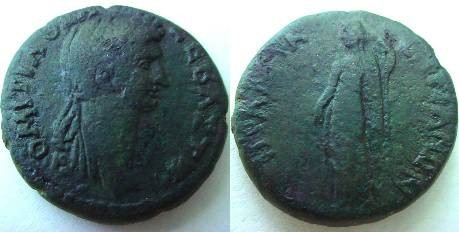Ancient Coins - Domitia AE26- Probably unique? VF.(13 gm)