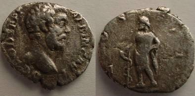 Ancient Coins - Clodius Albinus.AR Denarius.Aesculapius.