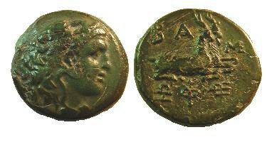 Ancient Coins - Macedon, Kings of. Philip V. 220-179 BC. Æ 21mm.Two goats seated right