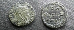 Ancient Coins - AE18 Rare barbarous imitation or could it be a dark ages imitative issue? Helmeted, diademed, bearded bust right / A DO +ET+ O MODO