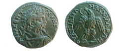 Ancient Coins - Septimius Severus Æ28 of Anchialus, Thrace.  Eagle standing facing with wreath in its beak. EF!