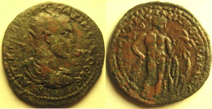 Ancient Coins - Tarsus, Cilicia, Maximinus RARE Herakles & Telephos.VF and very rare and interesting mythological type.