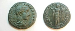 Ancient Coins - Gordian III Æ26 of Hadrianopolis, Thrace.  Nike standing left with wreath & palm branch.