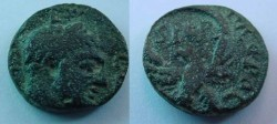 Ancient Coins - Severus Alexander AE17 of Samaria (Strato~s Tower), Caesarea.  C I F AV F C CAE METROP, eagle with wreath held in wings, SPQR within.
