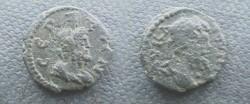Ancient Coins - Septimius Severus AE17 of Serdica, Thrace. Bust of Serapis right.