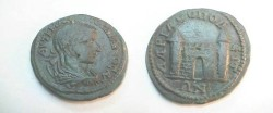Ancient Coins - Gordian III AE Pentassarion of Hadrianopolis. Front view of gate with two towers.