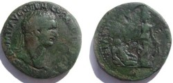 Ancient Coins - Domitian AE34 Medallion of Philippopolis, Thrace.River god Hebros reclining right