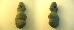 Ancient Coins - Neolithic stone amulet, possibly a fertility charm, in shape of a female figure.RRRR