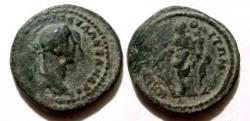 Ancient Coins - Severus Alexander AE21mm of Markianopolis. Fortuna standing left with rudder & cornucopiae.