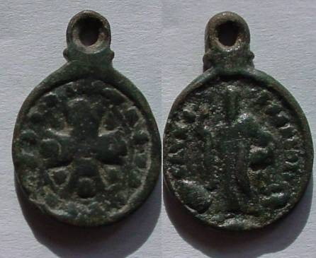 Ancient Coins - Beautiful, (18 century)?Christian. pendant with very  interesting design  .