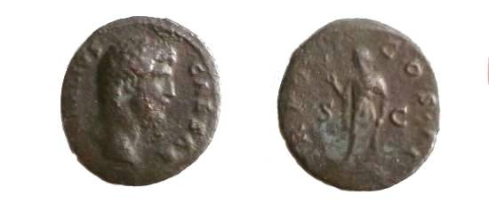 Ancient Coins - Aelius Caesar Æ Dupondius.  TR POT COS II S-C, Spes standing left, holding flower and lifting skirt.