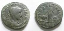 Ancient Coins - Gordian III AE30 (Sestertius) of Viminacium. Bull & lion flanking Moesia.