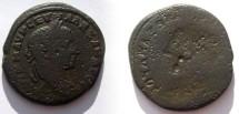 Ancient Coins - AE26 brockage of a  Severus Alexander  provincial.