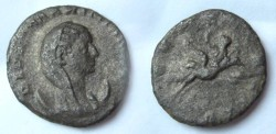Ancient Coins - Mariniana AR Antoninianus.  CONSECRATIO, peacock flying right, carrying Mariniana, veiled, with raised hand & scepter.