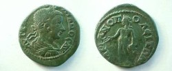Ancient Coins - Gordian III AE27 of Hadrianopolis, Thrace.  Bonus Eventus standing left with patera & corn ears.