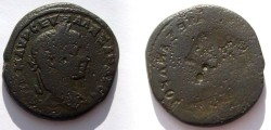 Ancient Coins - AE26 brockage of a  Severus Alexander  provincial.