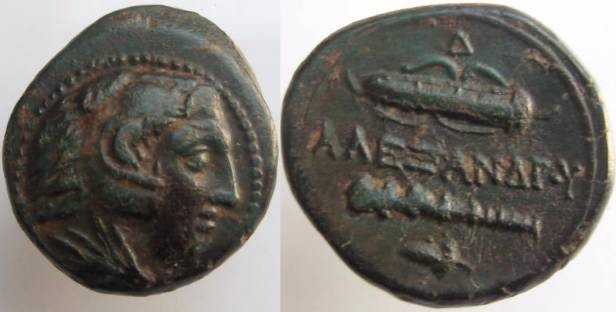 Ancient Coins - ALEXANDER III THE GREAT.336-323 BC. Bronze