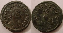 Ancient Coins - Carinus.A.D.283-285.Silvered AE Antoninianus.Sacrificial implements