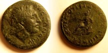 Ancient Coins - Macedonia, under the Romans, AE27. Alexander the Great / Athena seated left holding Nike & spear.
