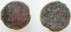 Ancient Coins -  Roman Republic Æ As / Janus and Prow Anonymous. Circa 215-212 BC