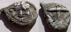 Ancient Coins - Thrace, Black Sea Area, Apollonia Pontika AR Drachm. ca 450 BC.Anchor.