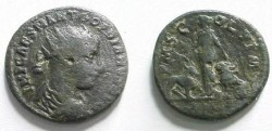 Ancient Coins - Gordian III AE24 of Viminacium, Moesia Superior.  PMS COL VIM, Moesia standing between bull and lion, AN I in ex.