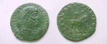 Ancient Coins - Julian II AE2.  SECVRITAS REIPVB, Apis Bull standing rtight, two stars above, ASIRM(wreath) in ex.