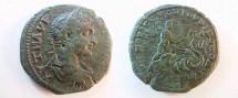 Ancient Coins - Elagabalus AE28 of Nikopolis, Moesia Inferior. Triptolemos riding right in biga of Dragons!
