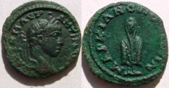Ancient Coins - Elagabalus AE18 of Markianopolis.Telesporos, standing.Rare and interesting coin.
