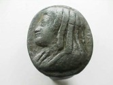 Ancient Coins - Egyptian bronze ring with the portrait of a woman, possibly Queen Cleopatra!